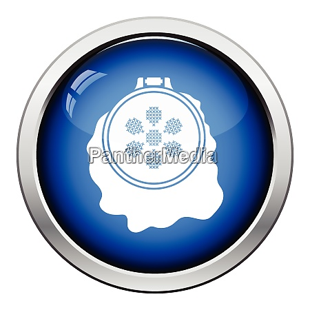 sewing hoop icon glossy button design