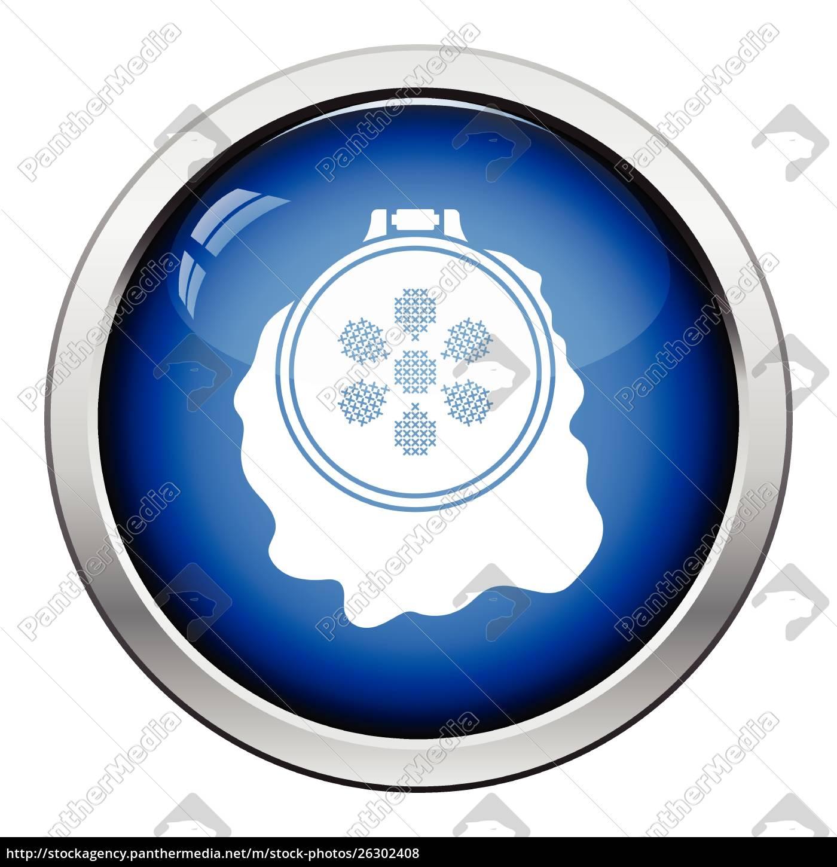 nähen, reifen-symbol., glänzende, s-taste, design., vektor-illustration. - 26302408