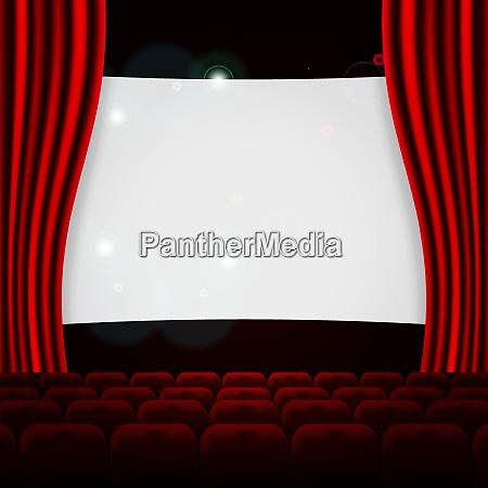 reihen von roten kino oder theatersitzen