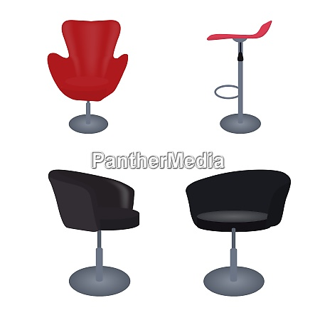 set of modern and antique furniture
