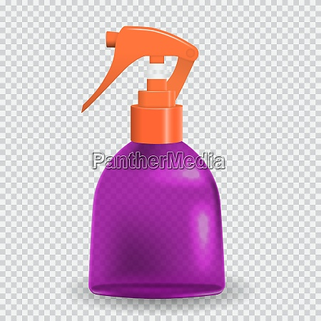 colorful naturalistic bottle with spray vector