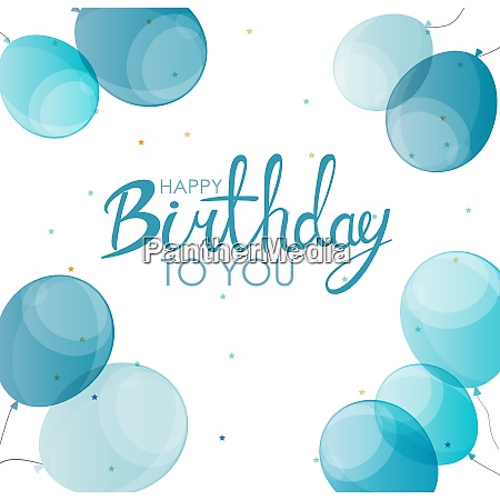 abstract happy birthday balloon background card