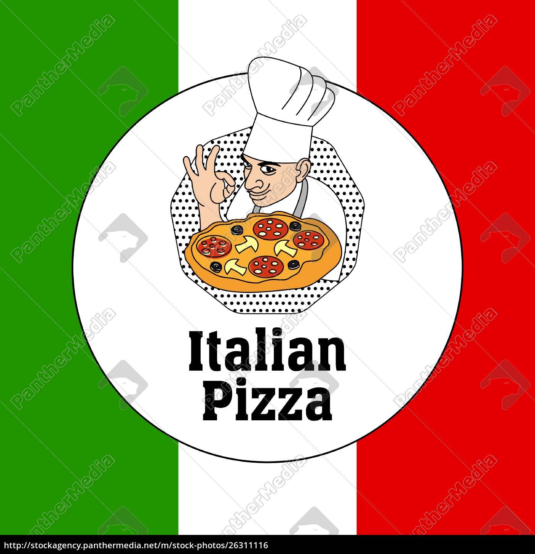 chef, italienische, küche, und, pizza, auf - 26311116