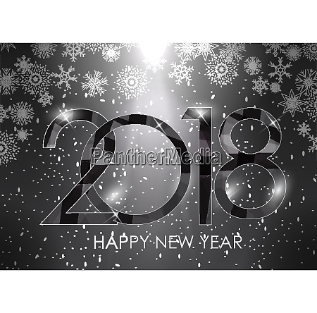 2018 new year glossy background vector
