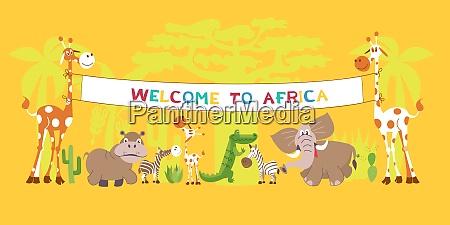 afrikanische tiere in der wueste giraffen