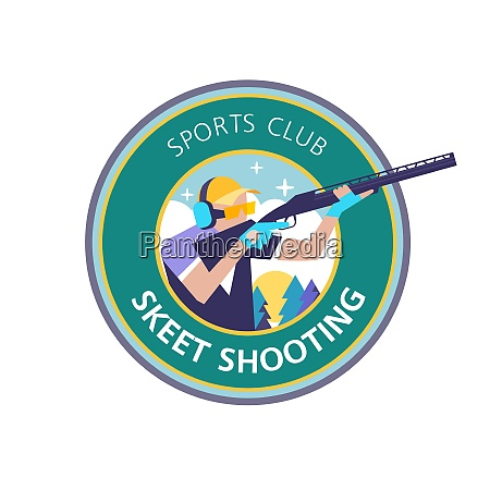 schiessen skeet vektor logo logo sportverein