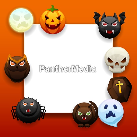 happy halloween greeting card celebration party