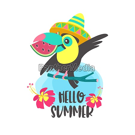 hello summer aloha cute funny cartoon