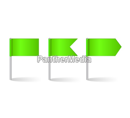 vector illustration of flags set