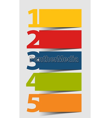 colored infographics design elements vector illustration