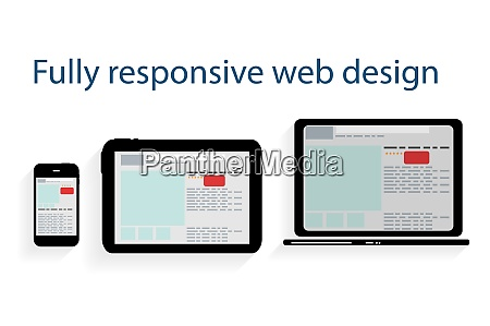 responsive web design icon vector illustration