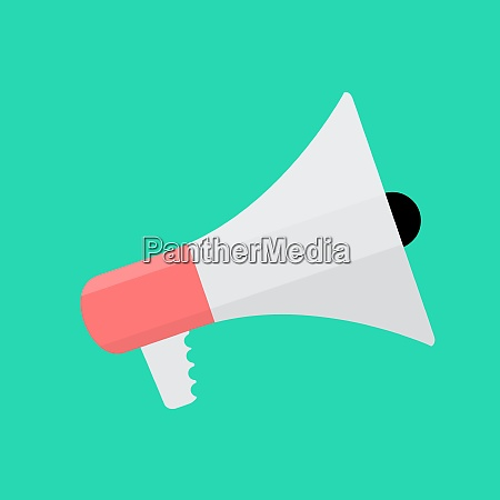 hand holding megaphone icon isolated vector