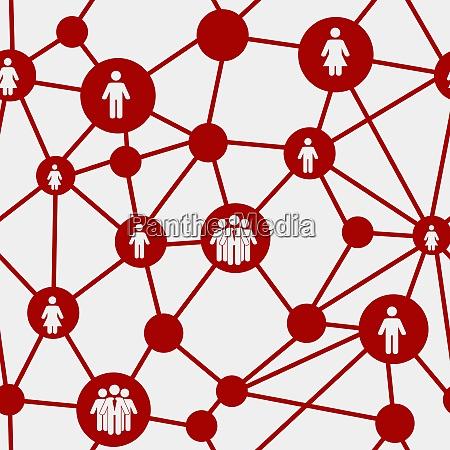 social media concept seamless pattern vector