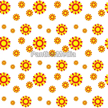 abstract colorful background with flowers seamless