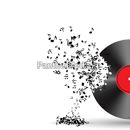 abstract music background vector illustration for