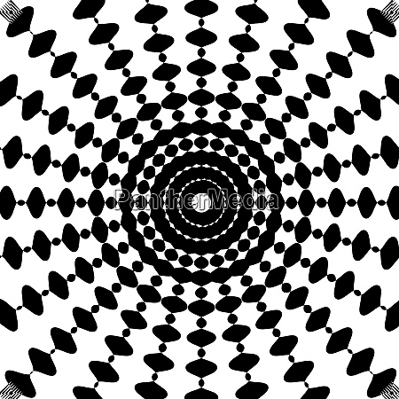 black and white abstract psychedelic art