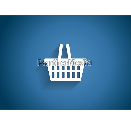 shopping glossy icon vector illustration on
