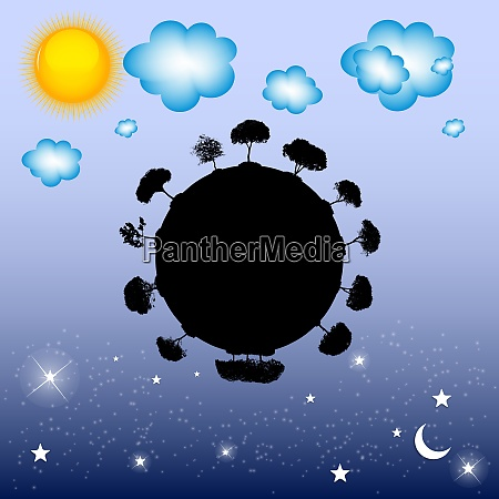 abstract black silhouette tree vector illustration