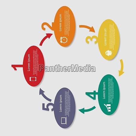 infografik vorlagen fuer business vector illustration