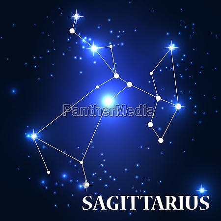 symbol sagittarius zodiac sign vector illustration