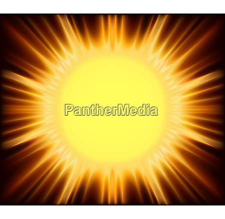 abstract sunshine with orange rays