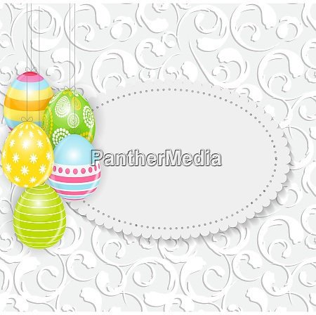beautiful easter egg background vector illustration