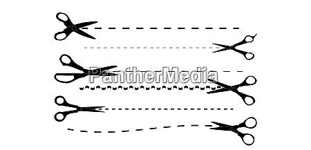 set of cutting scissors vector illustration