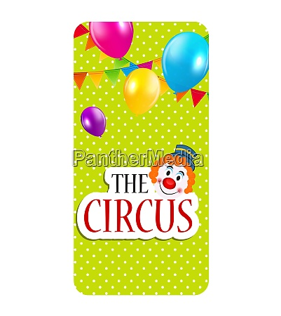 the circus banner isolated vector illustration