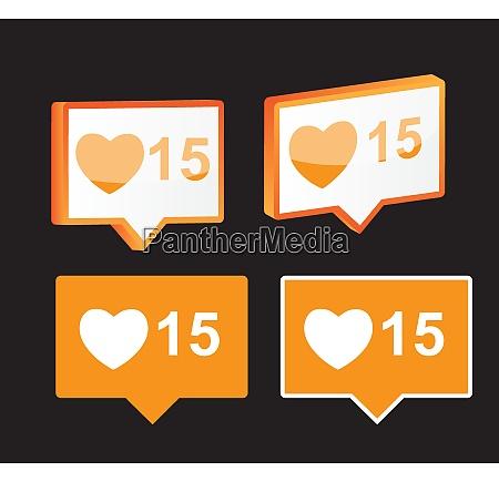 wie notification icon isolierte vector illustration