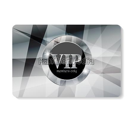 platinum vip members card vector illustration