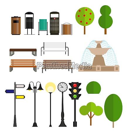 street, city, flache, design, elemente., vektor-illustration - 26331303