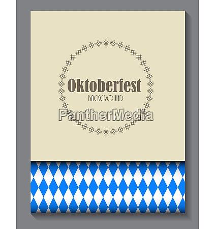 beautiful oktoberfest blue background vector illustration