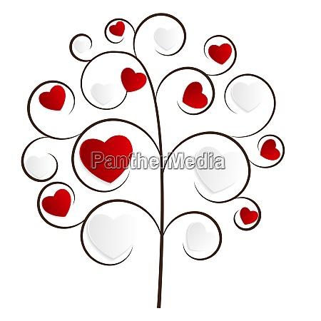 beautuful heart tree vector illustration