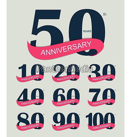 schablone logo 30 jahrestag vector illustration