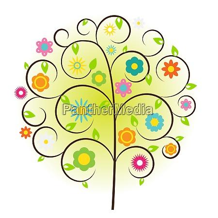 beautuful tree vector illustration on