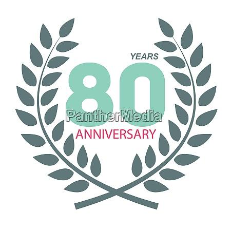 schablone logo 80 jubilaeum in laurel