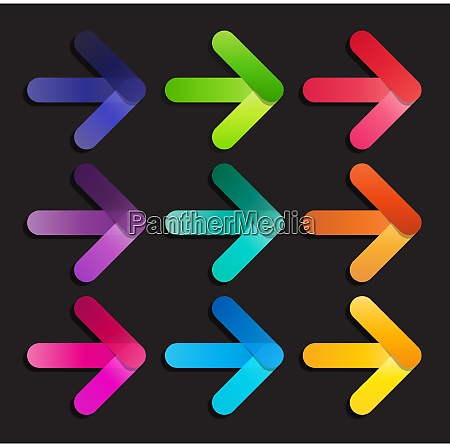abstract vector arrow icon template vector