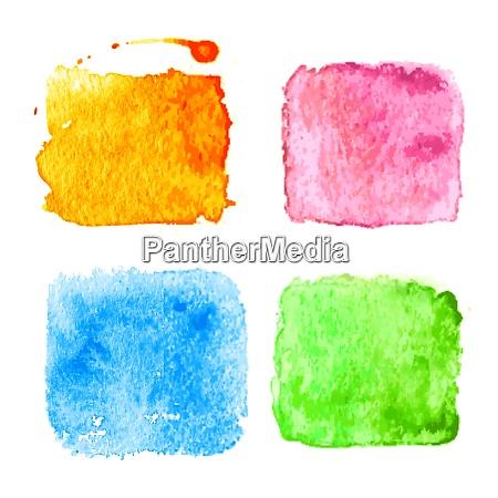 blue watercolor splatters vector illustration blue