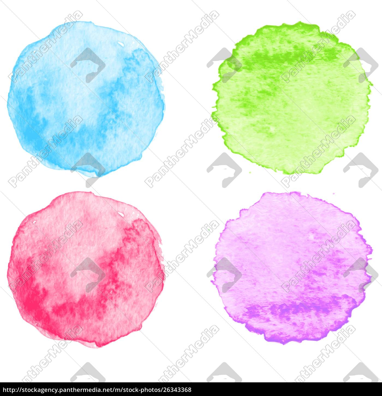 blaue, aquarell, spritzer., vektor-illustration., eps, 10. - 26343368
