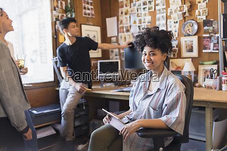 portrait smiling confident creative female designer
