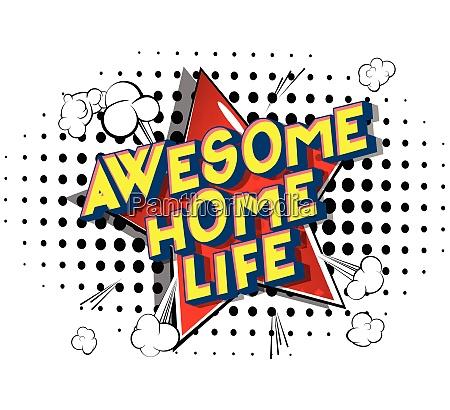 awesome home life comic book