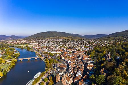 germany bavaria miltenberg river main and
