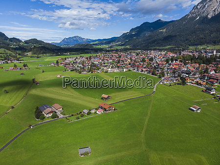 germany bavaria swabia aerial view of
