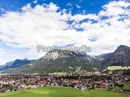 germany bavaria swabia aerial view of