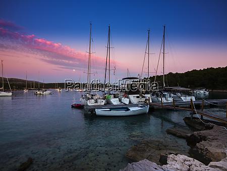 croatia damlatia brac island marina at