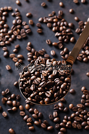 freshly roasted coffee beans on a