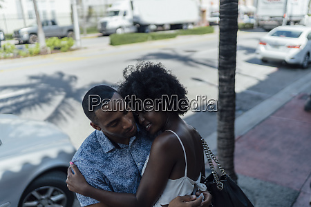 usa florida miami beach smiling affectionate