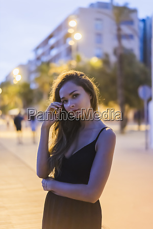 portrait of beautiful young woman in