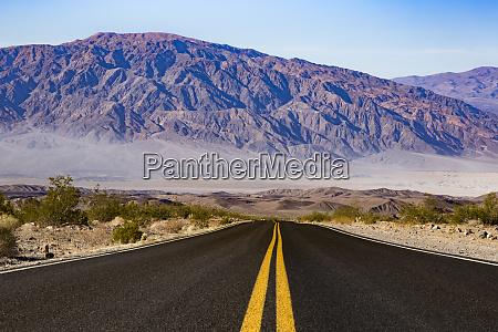 usa california death valley empty road