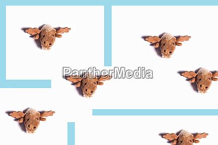 reindeer composition 3d rendering